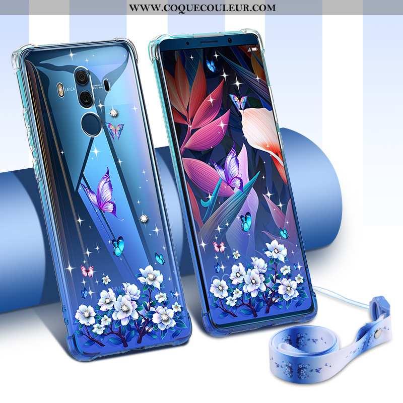 Coque Huawei Mate 10 Pro Tendance Nouveau Personnalité, Housse Huawei Mate 10 Pro Légère Étui Bleu