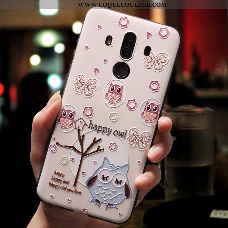 Étui Huawei Mate 10 Pro Créatif Rose Coque, Coque Huawei Mate 10 Pro Dessin Animé Légère