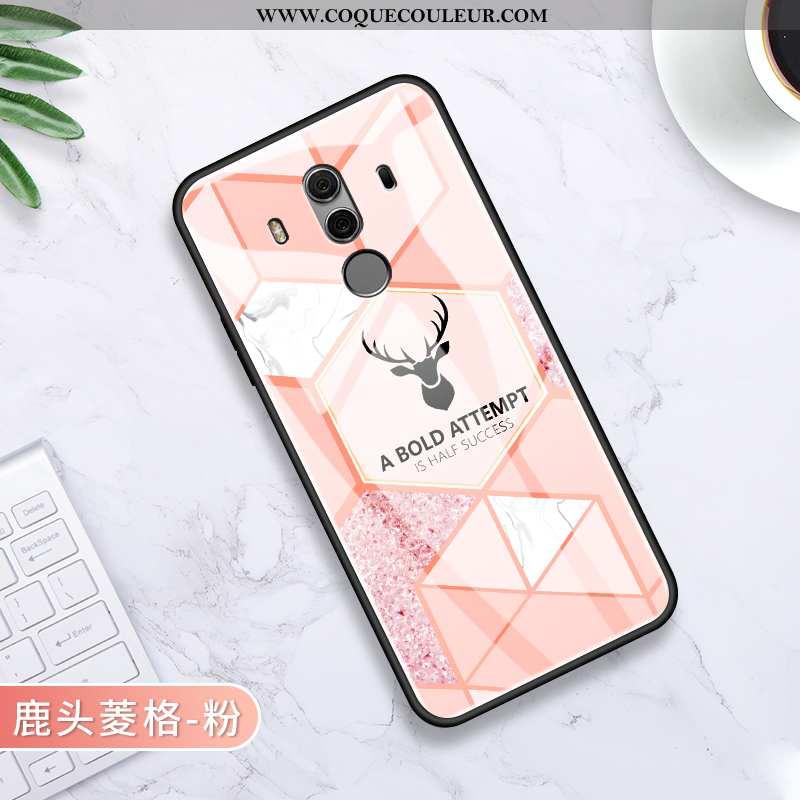 Housse Huawei Mate 10 Pro Légère Losange Amoureux, Étui Huawei Mate 10 Pro Silicone Rose