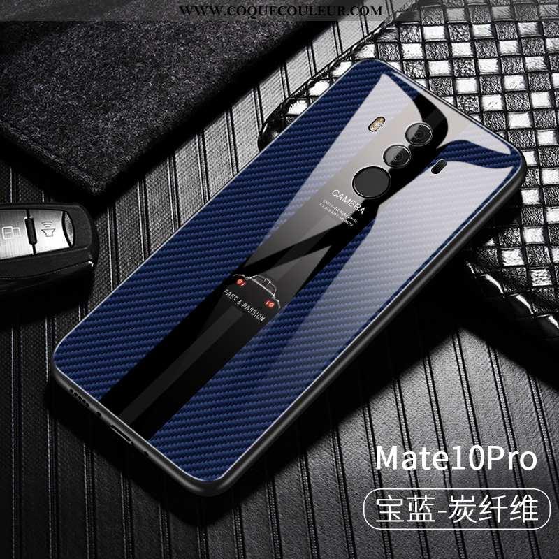 Étui Huawei Mate 10 Pro Créatif Tempérer Business, Coque Huawei Mate 10 Pro Ultra Tendance Bleu