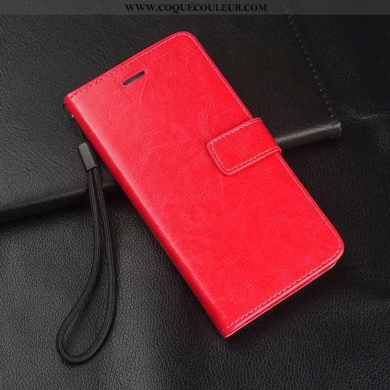 Étui Huawei Mate 10 Pro Protection Tout Compris, Coque Huawei Mate 10 Pro Cuir Rouge