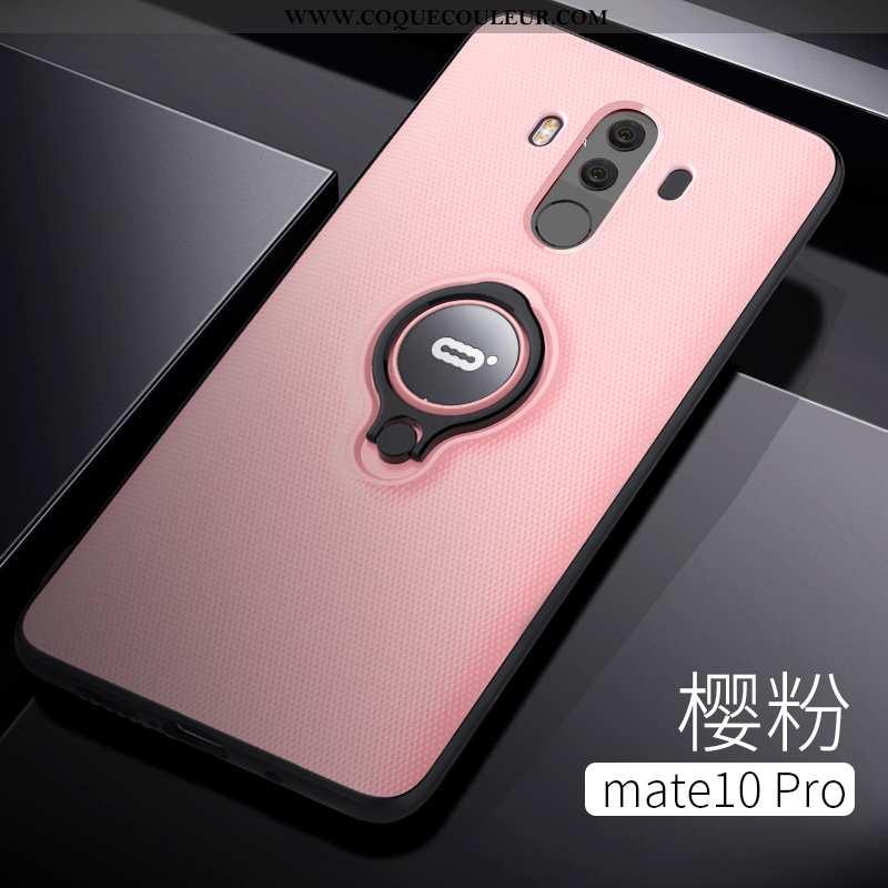Coque Huawei Mate 10 Pro Protection Magnétisme Étui, Housse Huawei Mate 10 Pro Transparent Anneau Ro