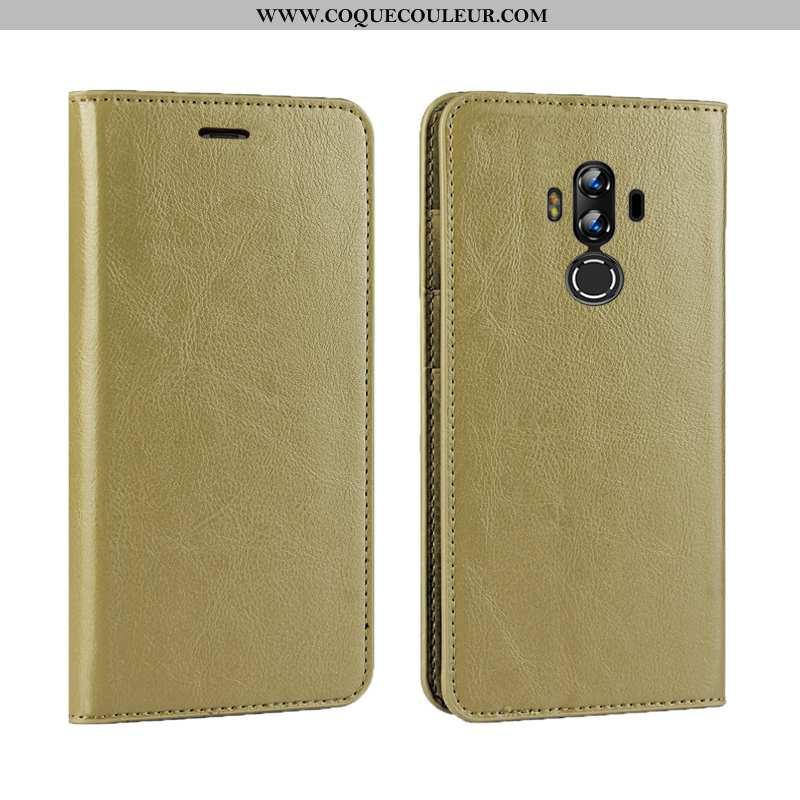 Étui Huawei Mate 10 Pro Luxe Coque Business, Huawei Mate 10 Pro Cuir Véritable Doré