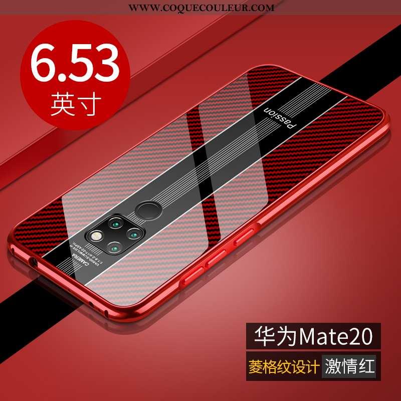 Housse Huawei Mate 20 Légère Téléphone Portable Ultra, Étui Huawei Mate 20 Protection Métal Rouge