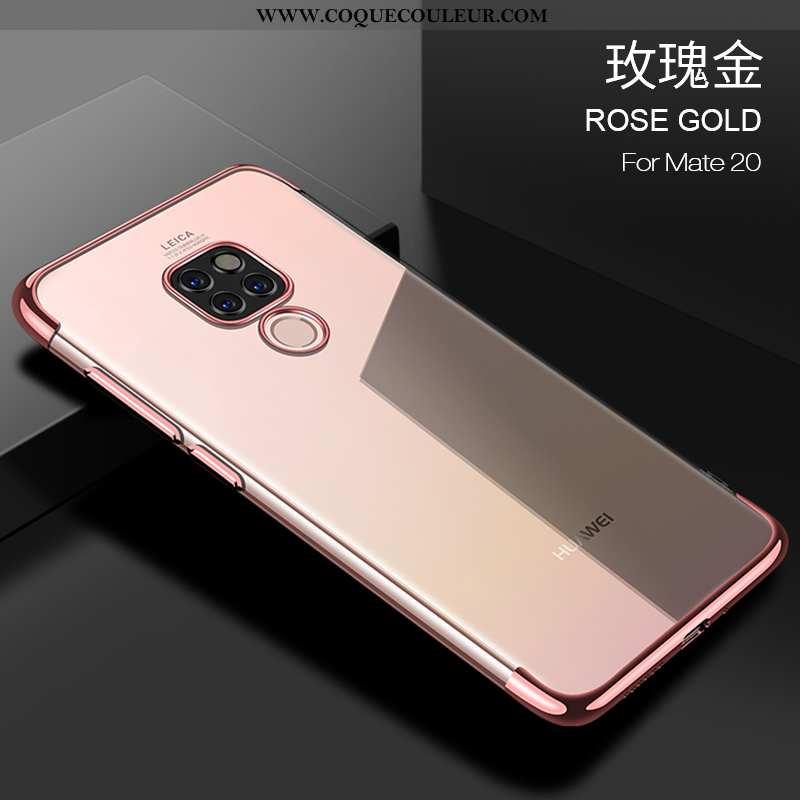 Housse Huawei Mate 20 Personnalité Incassable Coque, Étui Huawei Mate 20 Créatif Protection Rose