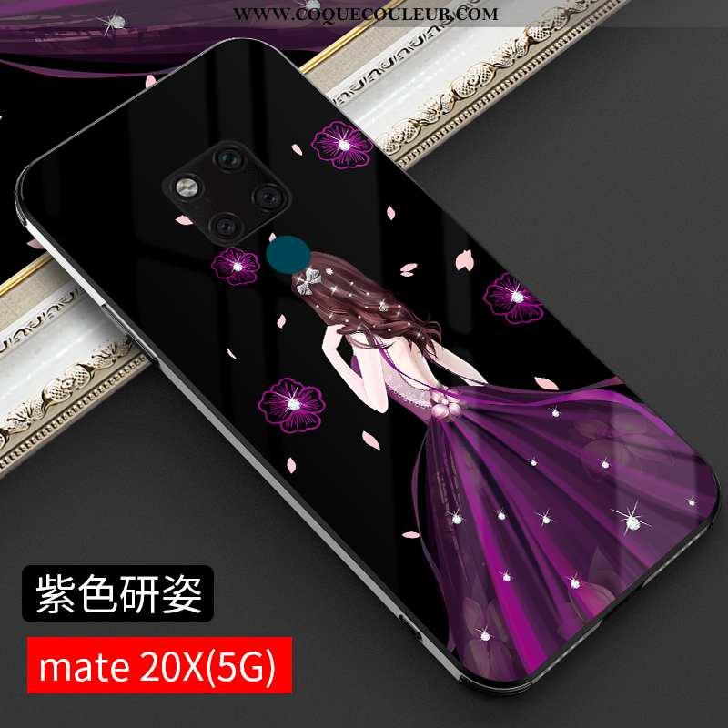 Coque Huawei Mate 20 Ultra Nouveau Net Rouge, Housse Huawei Mate 20 Tendance Personnalité Violet