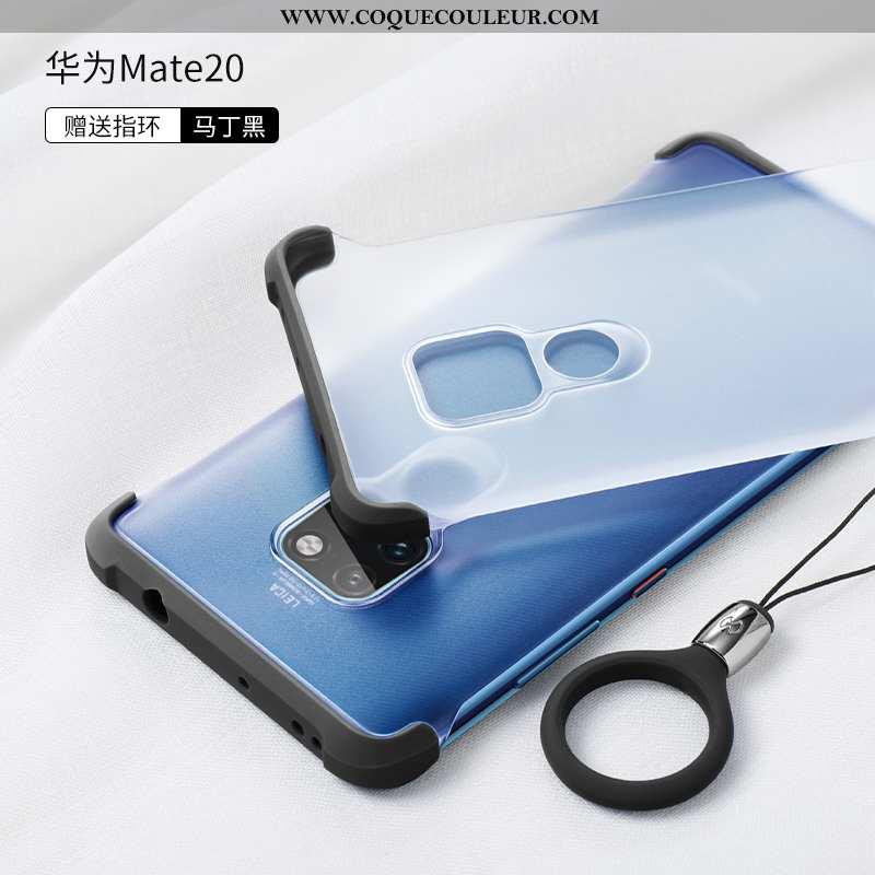Étui Huawei Mate 20 Transparent Ballon Fluide Doux, Coque Huawei Mate 20 Délavé En Daim Incassable B