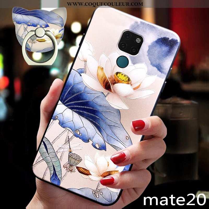 Housse Huawei Mate 20 Tendance Coque Téléphone Portable, Étui Huawei Mate 20 Fluide Doux Silicone Bl