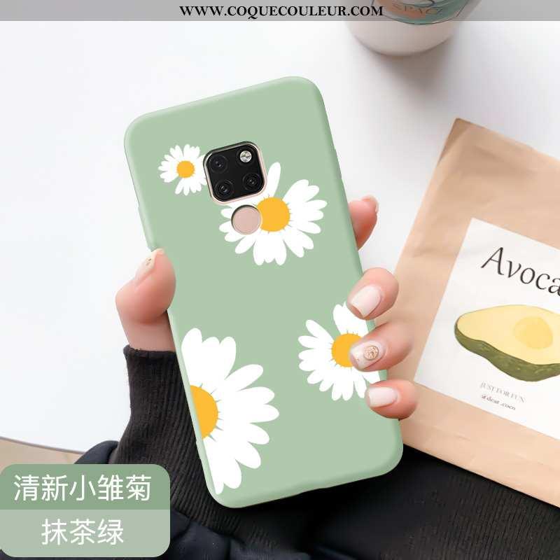 Étui Huawei Mate 20 Protection Nouveau Fluide Doux, Coque Huawei Mate 20 Personnalité Verte