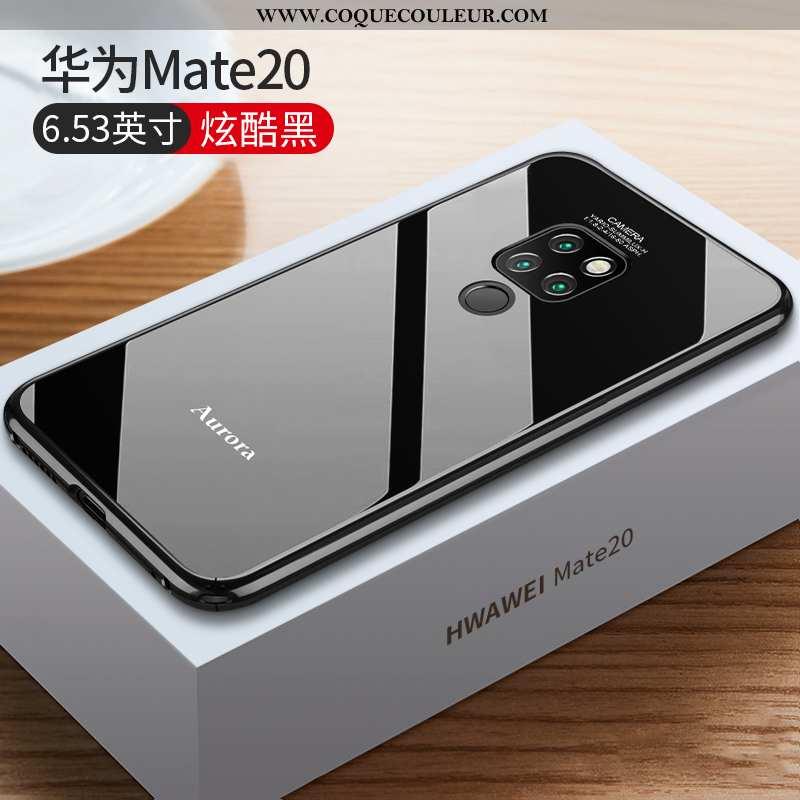 Étui Huawei Mate 20 Légère Métal Tout Compris, Coque Huawei Mate 20 Protection Verre Noir