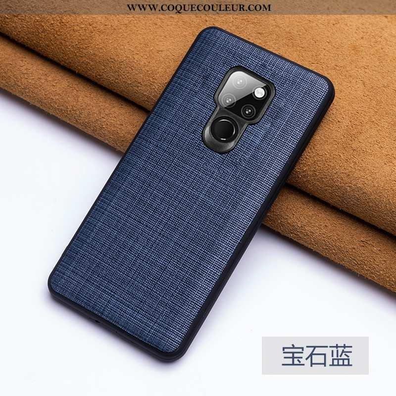 Coque Huawei Mate 20 Personnalité Qualité, Housse Huawei Mate 20 Créatif Bleu