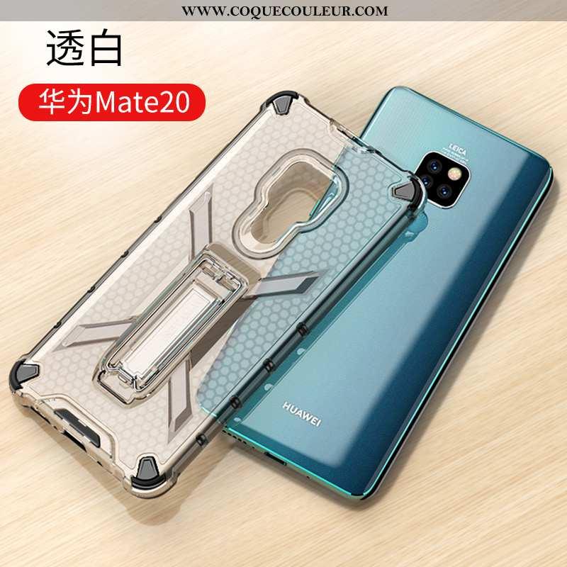 Housse Huawei Mate 20 Tendance Incassable Étui, Étui Huawei Mate 20 Silicone Transparent Noir