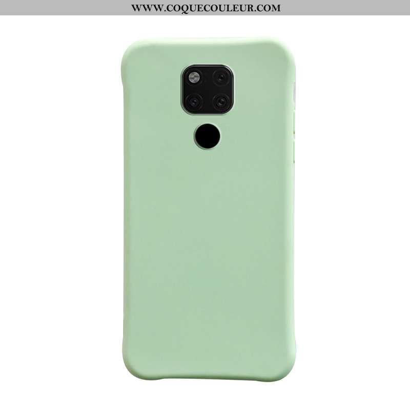 Étui Huawei Mate 20 Personnalité Couleur Unie Vert, Coque Huawei Mate 20 Tendance Téléphone Portable