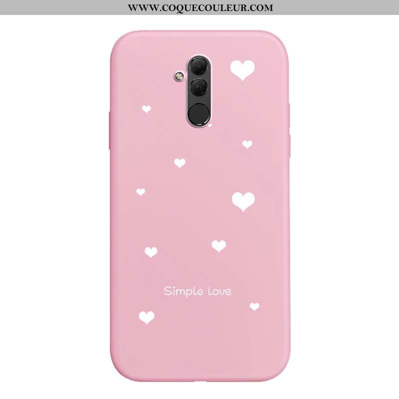 Étui Huawei Mate 20 Lite Fluide Doux Rose Simple, Coque Huawei Mate 20 Lite Silicone Nouveau