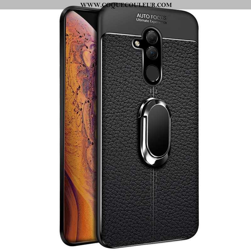 Coque Huawei Mate 20 Lite Fluide Doux Membrane Noir, Housse Huawei Mate 20 Lite Silicone Transparent