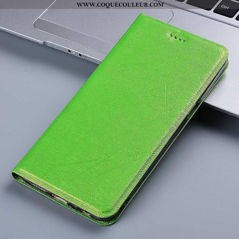 Coque Huawei Mate 20 Lite Cuir Housse Protection, Huawei Mate 20 Lite Silicone Soie Verte
