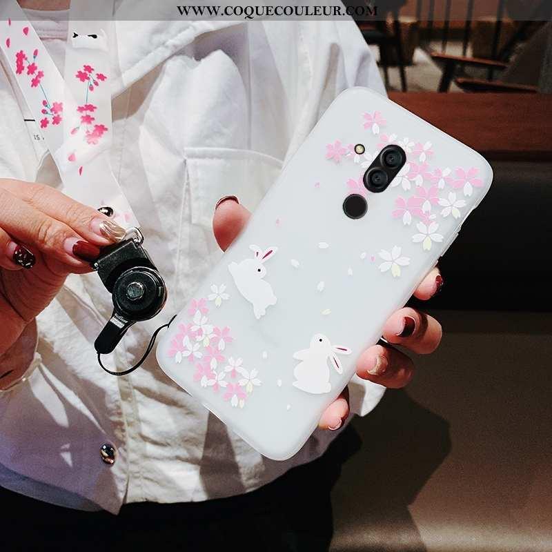 Étui Huawei Mate 20 Lite Fluide Doux Nouveau, Coque Huawei Mate 20 Lite Ornements Suspendus Blanc Bl