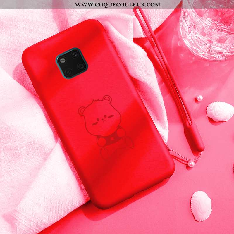 Étui Huawei Mate 20 Pro Charmant Rouge Net Rouge, Coque Huawei Mate 20 Pro Tendance Dessin Animé