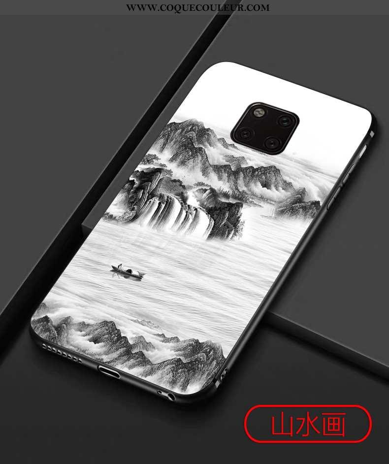 Étui Huawei Mate 20 Pro Protection Tendance Téléphone Portable, Coque Huawei Mate 20 Pro Délavé En D