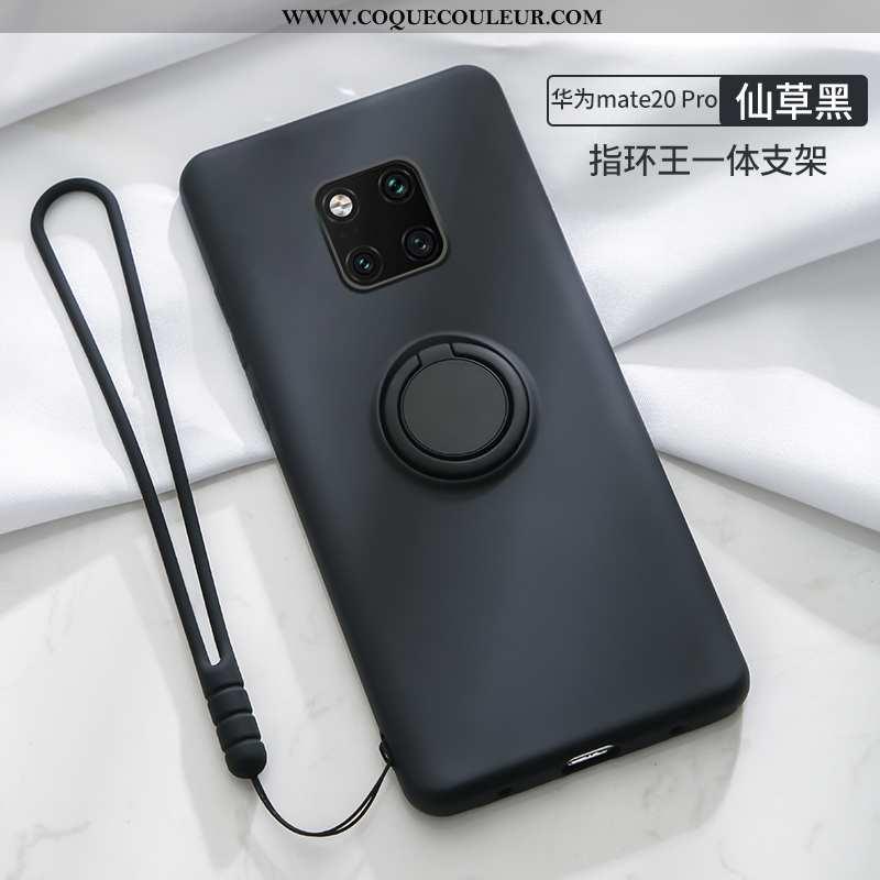 Housse Huawei Mate 20 Pro Délavé En Daim Téléphone Portable Anneau, Étui Huawei Mate 20 Pro Tendance