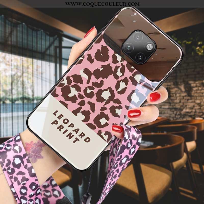Étui Huawei Mate 20 Pro Modèle Fleurie Créatif, Coque Huawei Mate 20 Pro Protection Verre Rose