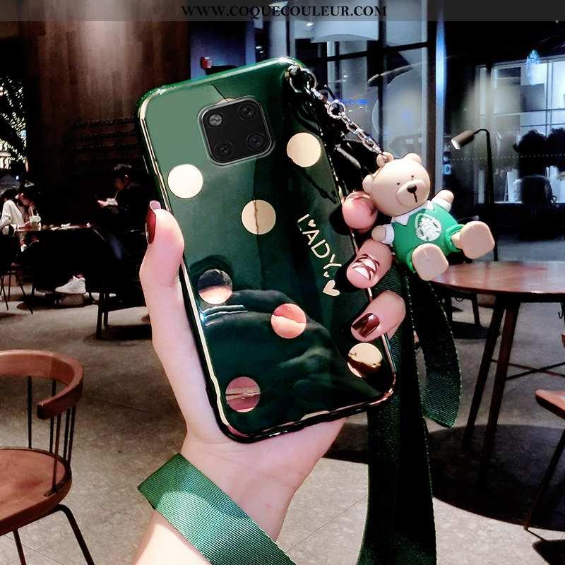 Coque Huawei Mate 20 Pro Ultra Net Rouge Vert, Housse Huawei Mate 20 Pro Tendance Fluide Doux Verte