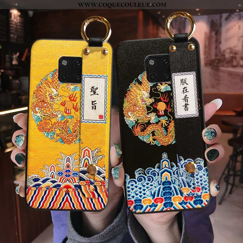 Housse Huawei Mate 20 Pro Créatif Étui Mode, Huawei Mate 20 Pro Tendance Protection Jaune