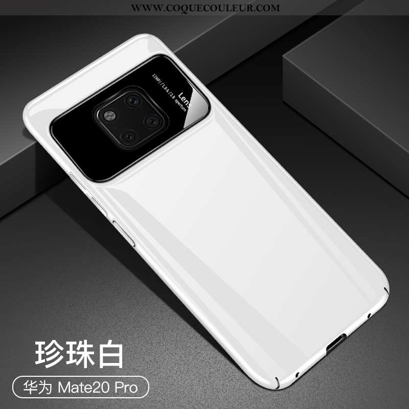 Coque Huawei Mate 20 Pro Protection Téléphone Portable Blanc, Housse Huawei Mate 20 Pro Verre Étui B
