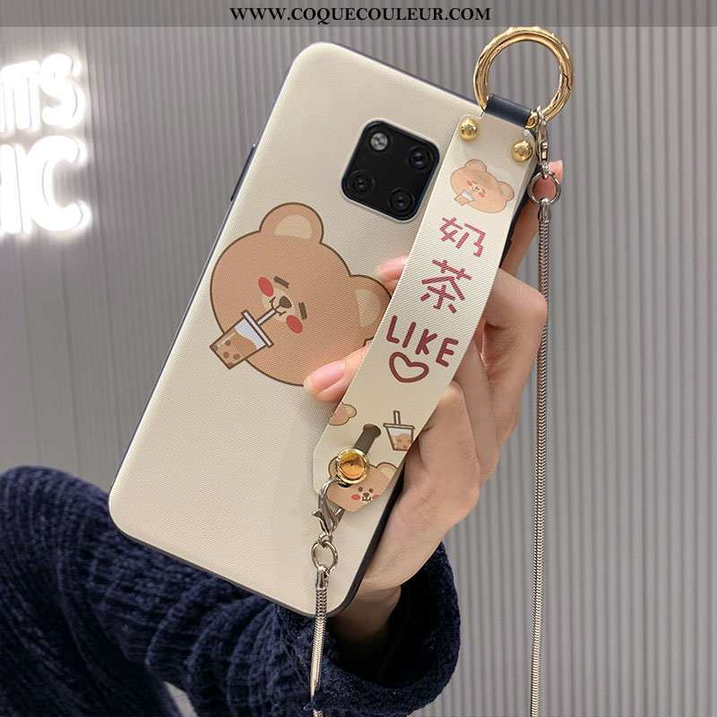 Coque Huawei Mate 20 Pro Fluide Doux Dessin Animé, Housse Huawei Mate 20 Pro Personnalité Blanc Blan