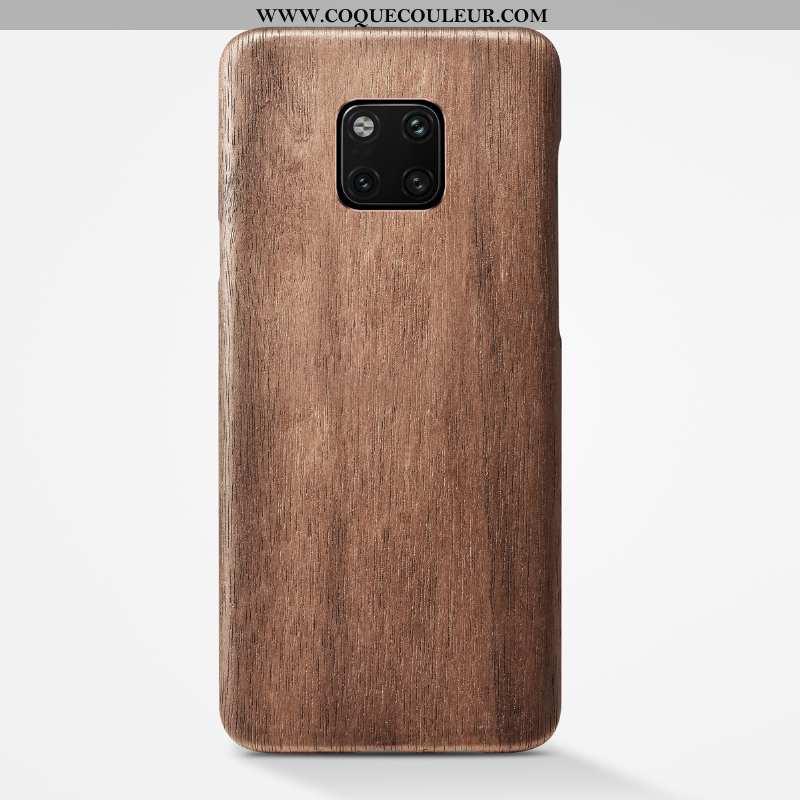 Coque Huawei Mate 20 Pro En Bois Légère Étui, Housse Huawei Mate 20 Pro Ultra Protection Khaki
