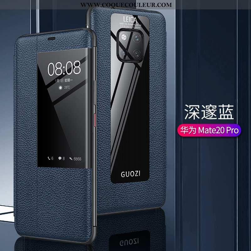 Étui Huawei Mate 20 Pro Créatif Légère Protection, Coque Huawei Mate 20 Pro Cuir Véritable Téléphone