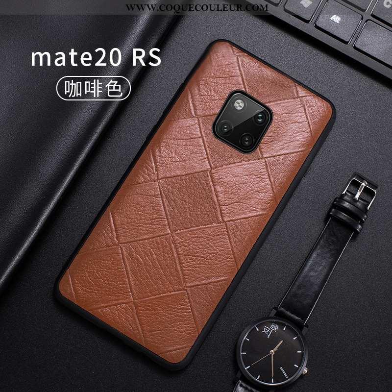 Étui Huawei Mate 20 Rs Fluide Doux Qualité Bovins, Coque Huawei Mate 20 Rs Cuir Véritable Tout Compr