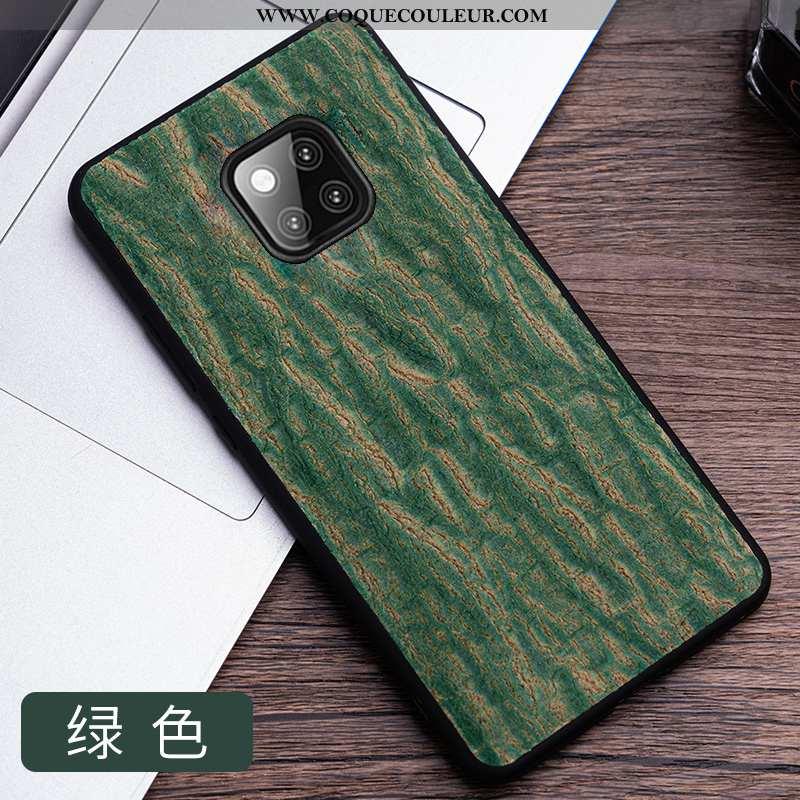 Coque Huawei Mate 20 Rs Tendance Mode Étui, Housse Huawei Mate 20 Rs Cuir Téléphone Portable Verte