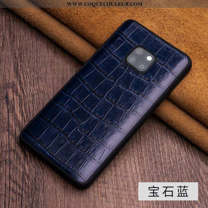 Housse Huawei Mate 20 Rs Protection Incassable Tout Compris, Étui Huawei Mate 20 Rs Luxe Bleu