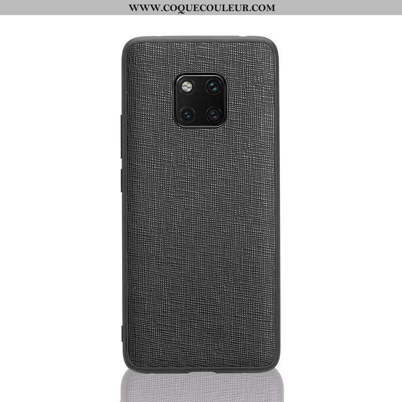 Housse Huawei Mate 20 Rs Cuir Véritable Noir Cuir, Étui Huawei Mate 20 Rs Ultra Fluide Doux