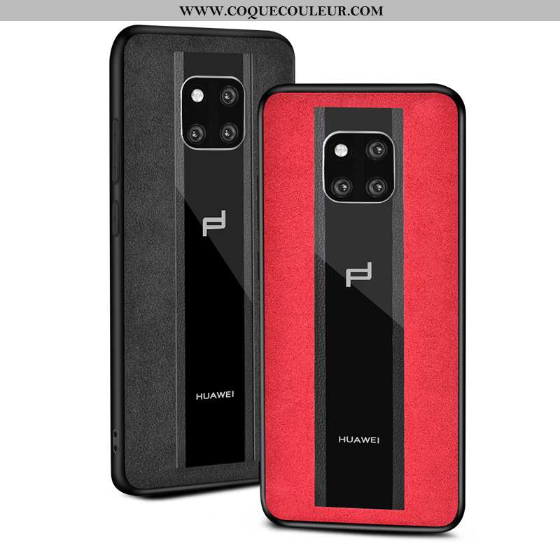 Housse Huawei Mate 20 Rs Verre Coque Incassable, Étui Huawei Mate 20 Rs Daim Fourrure Protection Rou