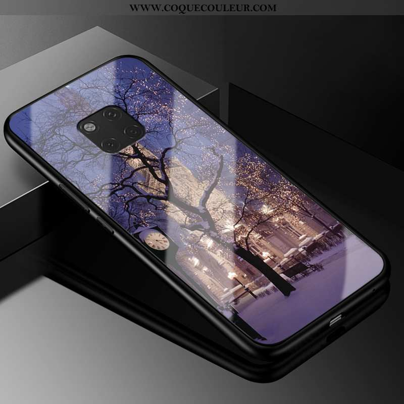 Étui Huawei Mate 20 Rs Protection Tout Compris Silicone, Coque Huawei Mate 20 Rs Verre Vent Violet