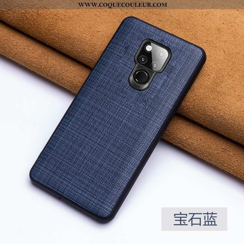 Étui Huawei Mate 20 X Ultra Luxe Téléphone Portable, Coque Huawei Mate 20 X Tendance Bleu Foncé