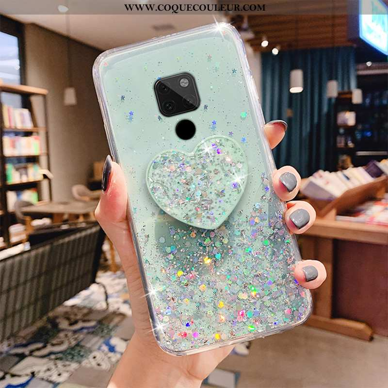Coque Huawei Mate 20 X Transparent Incassable Vert, Housse Huawei Mate 20 X Mode Amoureux Verte