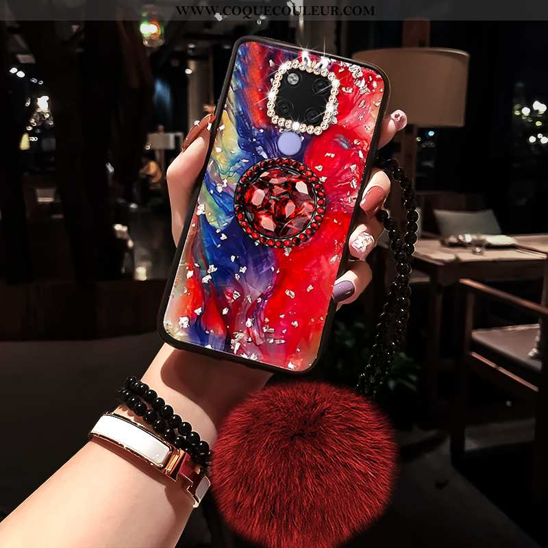 Coque Huawei Mate 20 X Tendance Mode, Housse Huawei Mate 20 X Silicone Étui Rouge