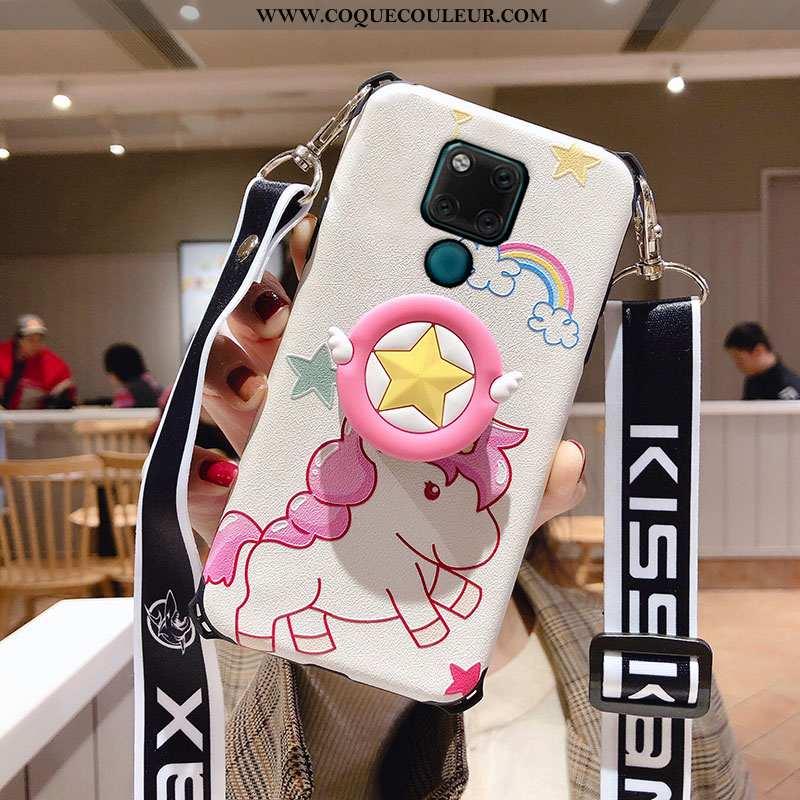 Housse Huawei Mate 20 X Délavé En Daim Dragon Légère, Étui Huawei Mate 20 X Ornements Suspendus Rose