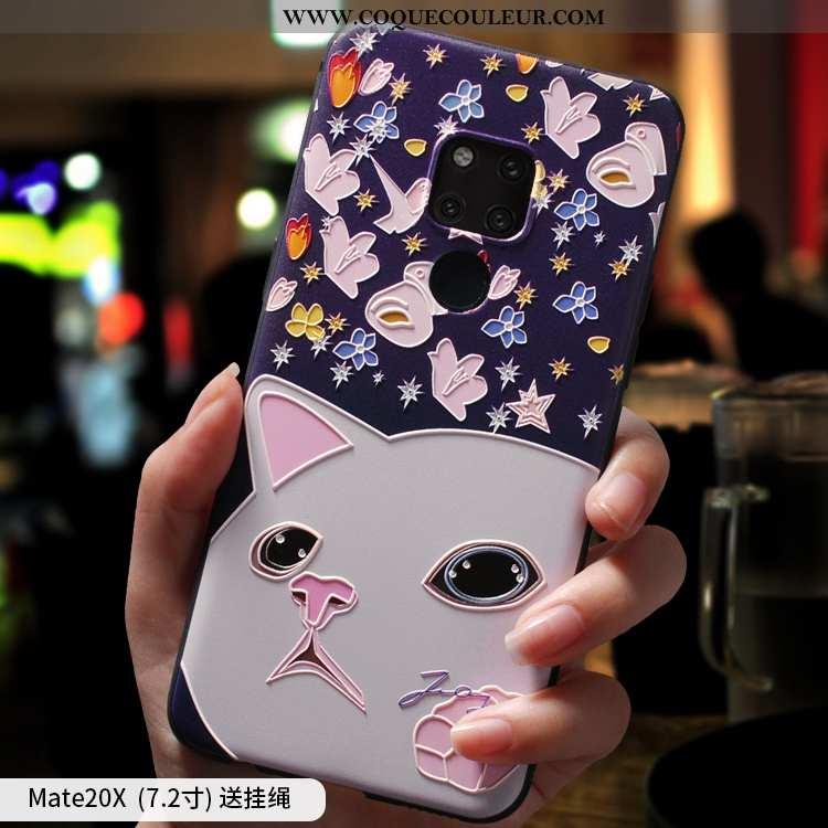 Coque Huawei Mate 20 X Silicone Téléphone Portable, Housse Huawei Mate 20 X Bleu Marin Tout Compris