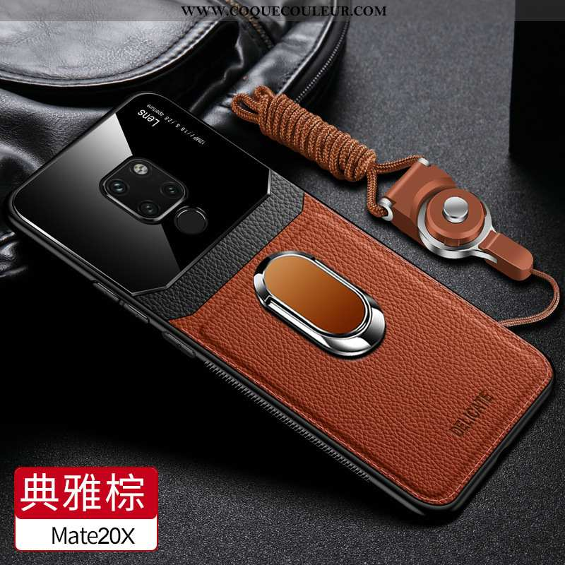 Étui Huawei Mate 20 X Fluide Doux Coque Téléphone Portable, Huawei Mate 20 X Silicone Tendance Marro