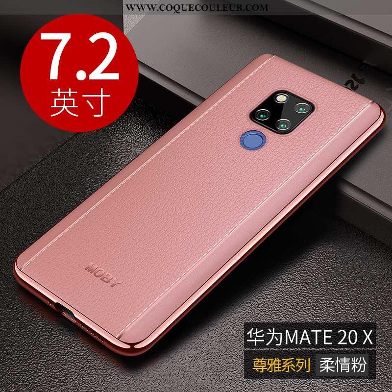 Étui Huawei Mate 20 X Fluide Doux Ultra Rose, Coque Huawei Mate 20 X Protection Légère Rose