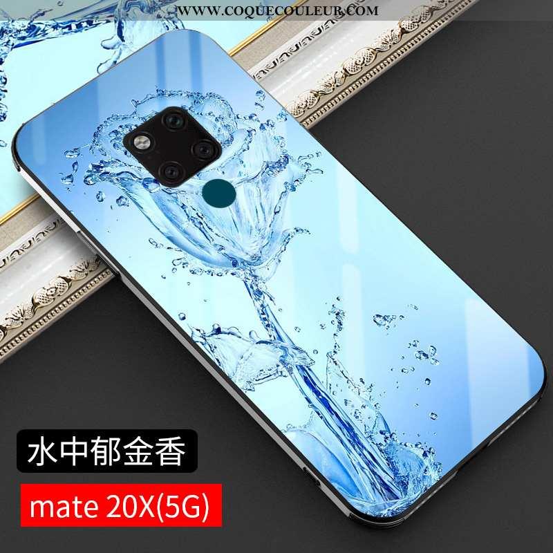 Housse Huawei Mate 20 X Tendance Tout Compris Luxe, Étui Huawei Mate 20 X Protection Bleu
