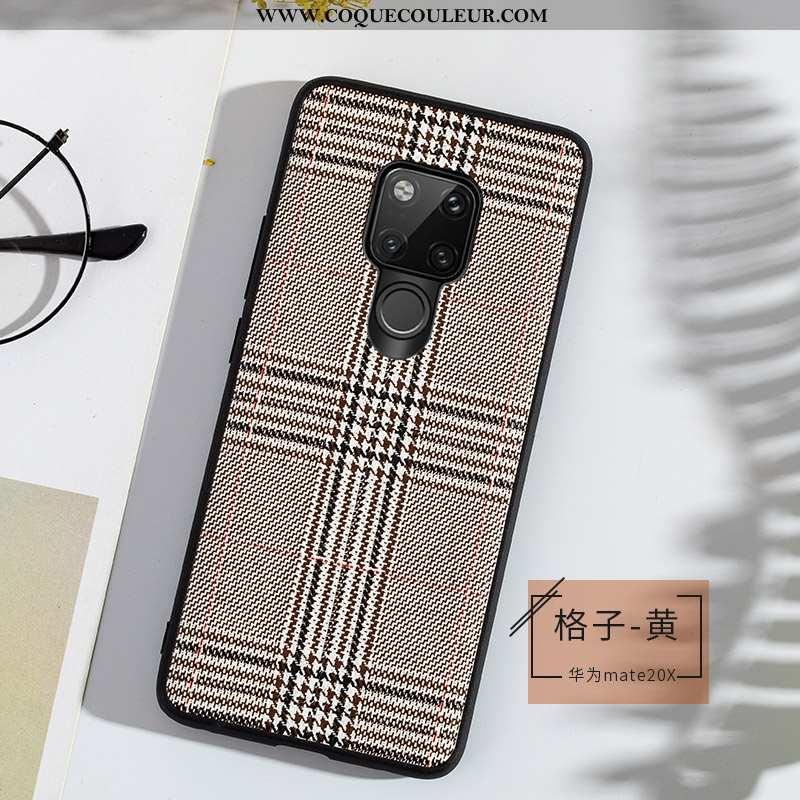 Étui Huawei Mate 20 X Fluide Doux Légère Luxe, Coque Huawei Mate 20 X Cuir Véritable Gris