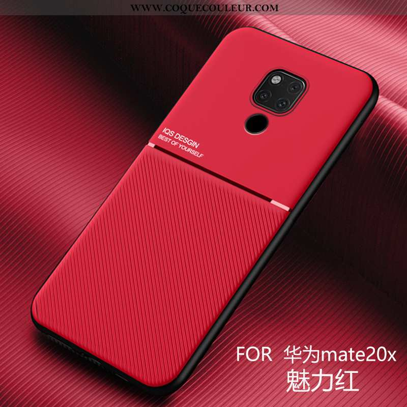 Étui Huawei Mate 20 X Silicone Nouveau Rouge, Coque Huawei Mate 20 X Personnalité Ultra Rouge