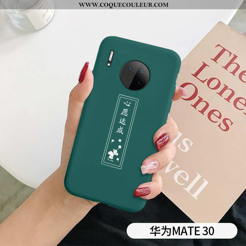 Coque Huawei Mate 30 Protection Cœur Personnalité, Housse Huawei Mate 30 Délavé En Daim Fluide Doux