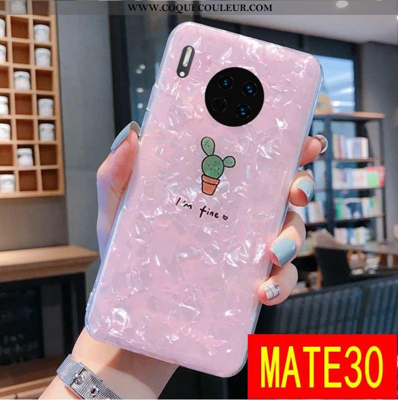 Housse Huawei Mate 30 Transparent Rose Téléphone Portable, Étui Huawei Mate 30 Personnalité Incassab