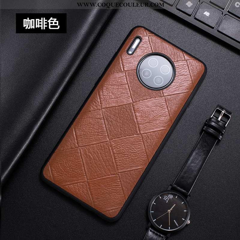 Étui Huawei Mate 30 Fluide Doux Téléphone Portable Légère, Coque Huawei Mate 30 Cuir Véritable Tout